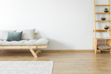 Settee in beige living room