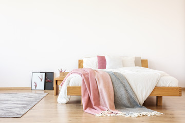 Simple bedroom with copy space