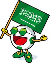 Saudi Arabia soccer ball mascot