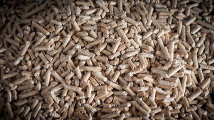 Wood pellets background
