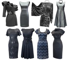 black and grey dresses set
