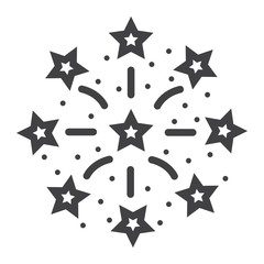 Fireworks line icon, New year and Christmas, xmas sign vector graphics, a linear pattern on a white background, eps 10.