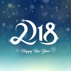 2018 Happy New Year Greetings Card