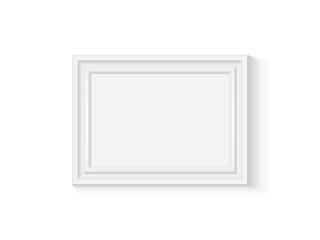 white wooden or plastic frame