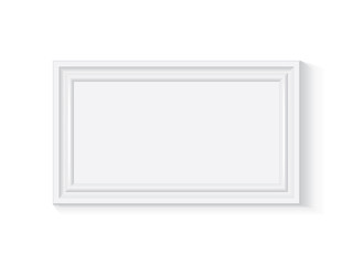 white wooden or plastic frame