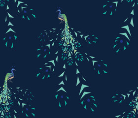 peacock pattern fragmentation seamless