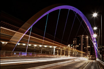 UK City Bridge Fotomurales