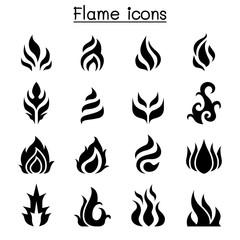 flame, fire, burn icon set
