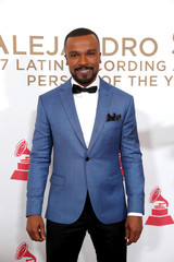 Brazilian singer Alexandre Pires arrives for the 2017 Latin Recording Academy Person of the Year Gala in Las Vegas
