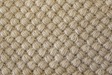 Gray knitted fabric made of heathered yarn textured background