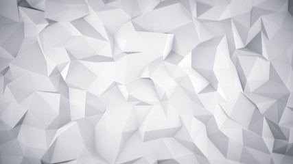 White low poly 3D surface