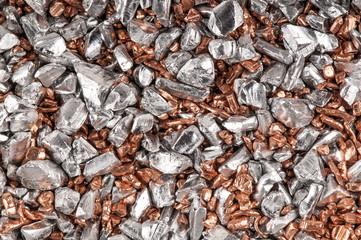 Silber Kupfer Granulat Hintergrund