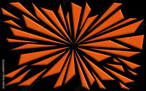 Shattered Neon Orange Shapes Background