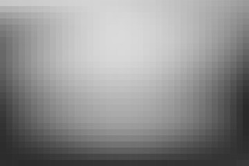 Vector greyscale blurred background. Monochrome defocused black and white smoky banner. Grayscale gradient. Grey or silver abstract backdrop. Blurry unfocused studio light, mist or fog illustration.