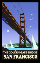 Canvas Prints Art Studio The golden gate bridge, San Francisco
