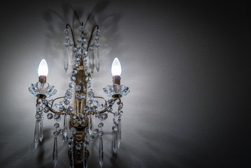 French chandelier on the wall