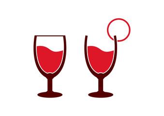 Unique Glass beer Logo Symbol