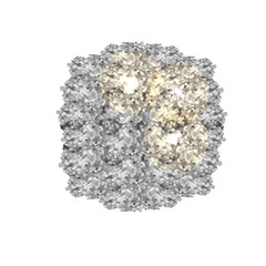 Silver glitters isolated on white. VECTOR