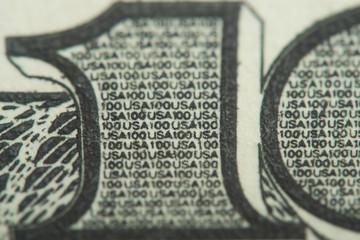 macro hundred dollar bill
