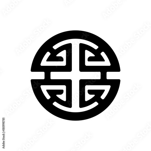 Vector Illustration Lu Sign And Symbol Of Chinese Folk Religion