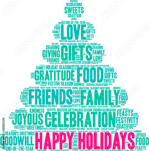 Happy holidays word cloud on a white background stock image and happy holidays word cloud on a white background m4hsunfo
