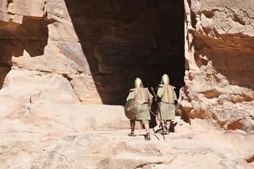 Nabatäer in der Felsenstadt Petra in Jordanien
