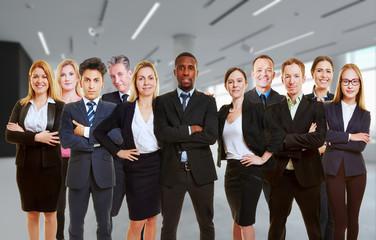 Team Geschäftsleute in Zusammenarbeit