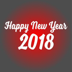 happy new year 2018 on red background. happy new year 2018 sign.
