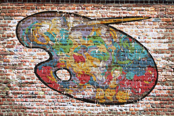 Grafitti. Palette de peinture