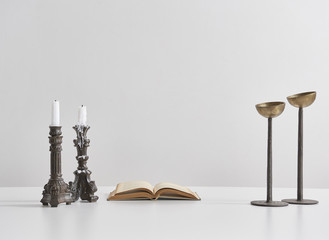 modern candlestick and object