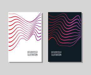 Minimal covers design set. Simple shapes.