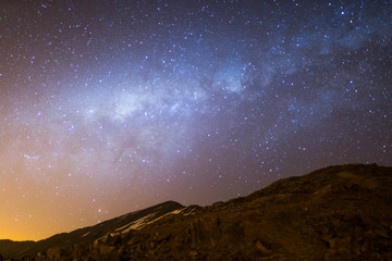 Milky way galaxy in the Bolivian Andes