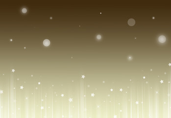 Soft Gold glitter sparkles rays lights bokeh and star festive elegant abstract footer background.  Screen mode. footer design