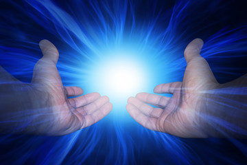 Hands with energy