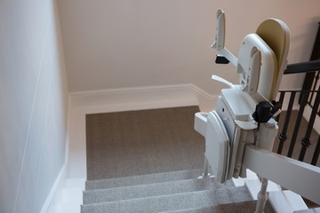Stairlift on railing
