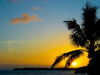Coucher de soleil, Polynésie