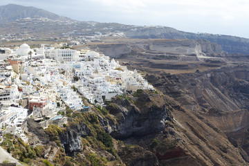 Famous view over the village of Oia at the Island Santorini, Greece
