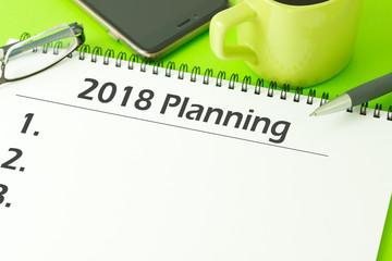 2018 planning notepad