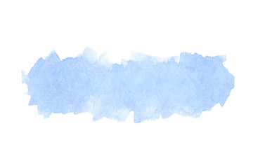 Abstract blue watercolor on paper texture