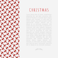 Christmas concept with funny Santa Claus and place for text. Modern vector illustration in flat style.
