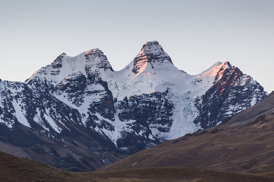 Sunset on Nevado Condoriri in the Bolivian Andes