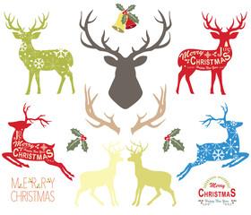Christmas Reindeer Elements