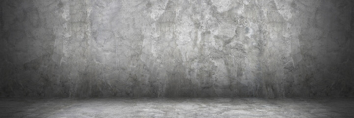 Wall Mural - horizontal cement wall and floor with shadow for pattern and background
