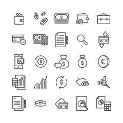Premium set of banking line icons.