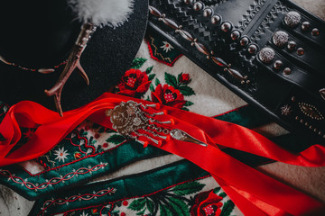 Góralskie elementy męskiego ubioru