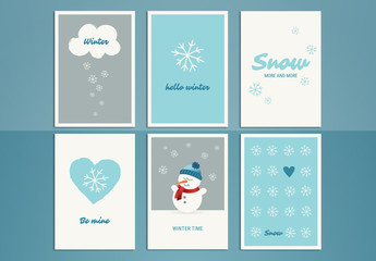 Winter Greeting Card Set 1