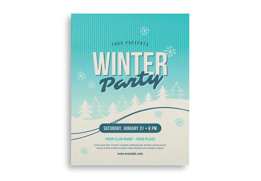 Snowy Winter Party Flyer