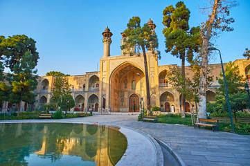 Walk in garden of Sepahsalar mosque, Tehran