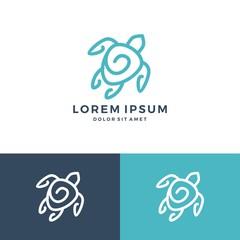 turtle logo vector icon download