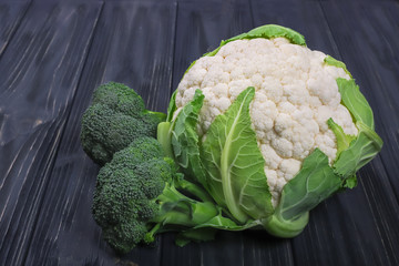 cauliflower and broccoli cabbage